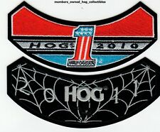 2010 & 2011 HOG Members Rocker Patches HARLEY DAVIDSON OWNERS GROUP HD MC club