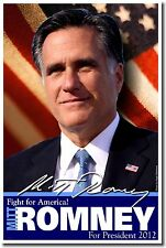 NEW President Political Election Republican POSTER - Mitt Romney America 2012