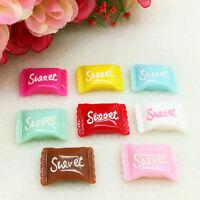 8pcs Resin Sweet Sugar Candy Cabochons Flatback Scrapbooking Choose color