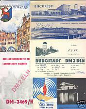 QSL RADIO CARDS 125 ex. mostly Eastern Europe pre-1975