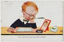 POSTCARD - Mabel Lucie Attwell, boy writes letter to sweetheart, German #2531