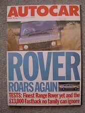 Autocar (31 Aug 1988) Rover 820 Fastback, Range Rover Vogue, Audi 90,Thunderbird