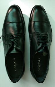 Brand New Genuine CANALI Men's Black Derby Formal Shoes Size UK7 / EU41 RRP £385