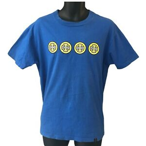 Independent Trucks Men's T Shirt Medium Blue Logo