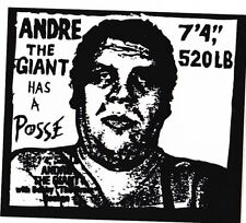 Shepard Fairey ANDRE THE GIANT HAS A POSSE STICKER kaws banksy PopArt dolk dran