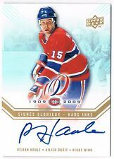 2008-09 UPPER DECK MONTREAL CANADIENS CENTENNIAL HABS INKS AUTO REJEAN HOULE
