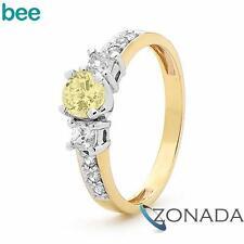 Princess Cut Simulated Diamond 9k 9ct Solid Yellow Gold Engagement Rings