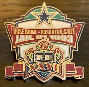 DALLAS COWBOYS ~ NFL SUPER BOWL 27 CHAMPIONS PIN ~ Willabee & Ward ~ SB XXVII