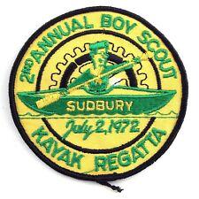 Second Sudbury 2nd Annual Boy Scout Kayak Regatta Iron Sew On Patch Badge K519