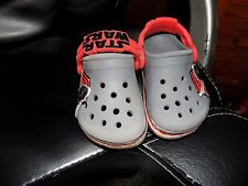 "Crocs Toddlers Boy's Crocband Star Wars Kylo Renâ""¢ Clog Size C 4/5"