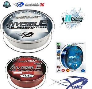 """YUKI """"INVISIBLE"""" Fluoro Coated Fishing Line 150m 300m Sea Clear / Red / Blue"""