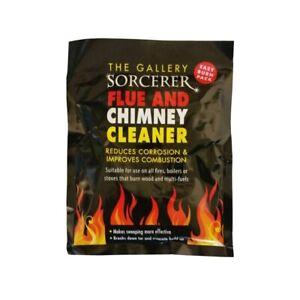 2 X PACKS OF SORCERER FLUE & CHIMNEY CLEANER FOR WOOD BURNERS FIRES