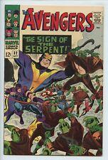 1966 MARVEL THE AVENGERS #32 1ST APPEARANCE OF BILL FOSTER  VF+   S1