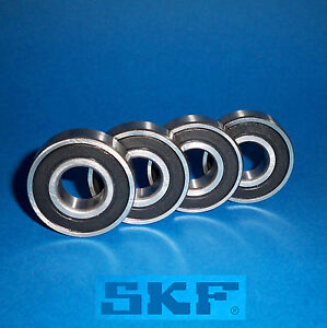 4 Kugellager 6004 2RS / Markenware SKF / 20 x 42 x 12 mm