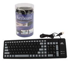 103 Keys USB 2.0 Silicone Roll Up Foldable PC Computer Keyboard Free Ship