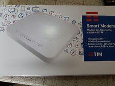 Smart Modem Router mod. 2017 (FIBRA o ADSL) Originale TIM TELECOM. 2 Porte USB