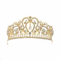 Rhinestone Crystal Queen Crown Wedding Princess Headband Crowns Tiaras 2 Colors