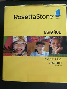 Rosetta Stone Spanish (Latin America) Level 1 - 5 Complete Set Version 3