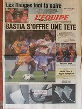L'Equipe du 10/9/2000 - Foot : Bastia - Paris - Safin - Les Ferrari à Monza