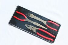 Snap On Red 3 pc Heavy Duty Pliers Set Rare Brand New