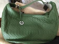 Vintage Donald J Pliner Kiwi Infinity Quilted Leather Handbag NWT