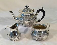 Antique 3 PC Sterling Silver Sheffield Coffee Tea Set DIMINUTIVE SIZE C.1820'S