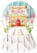 Candy Houses Snow Globe Pop Up Christmas Card by Up With Paper Brand New