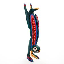 HANDSTAND RABBIT Oaxacan Alebrije Wood Carving Mexican Art Sculpture Painting
