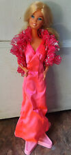 Vintage Superstar Barbie Doll 1977 With Clothes Stand And Most Jewelry