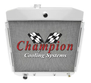 Champion 3 Row Aluminum Radiator for 1957 - 1960 Ford F-100 Ford Configuration