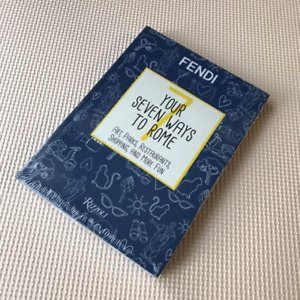 """FENDI Travel Notebook Rome Guidebook """"YOUR SEVEN WAYS TO ROME"""" New"""