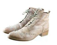 Donald J. Pliner Nickki $120 Women's Ankle Boots Size 8 Leather Beige