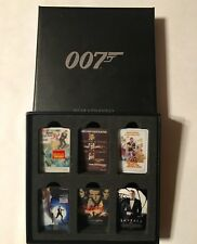 SET OF 6 James Bond 007 CLASSIC Movie Poster Pin Badges In Special 007 Logo Box