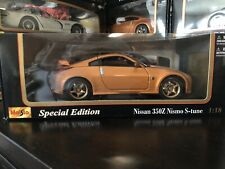 Maisto Special Edition Nissan 350Z Nismo S-Tune Scale 1:18 Die Cast Car New