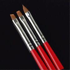 Arte en Uñas Pincel de Pintura de acrílico Gel constructores conjuntos de diseño de dibujo 3pc