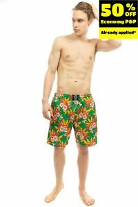 SSS WORLD CORP. Swim Shorts Size L Floral Mesh Briefs Made in Portugal