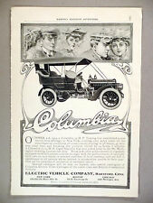 Columbia Electric Vehicle Co. PRINT AD - 1904 ~ Motor Car