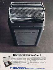 PUBLICITE ADVERTISING 094 1968 THOMSON nouveau ! 3 rasoir en 1 seul