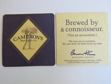 Beer Coaster ~^~ Camerons Brewing Company ~ Not Brewed By An Accountant ~ Canada