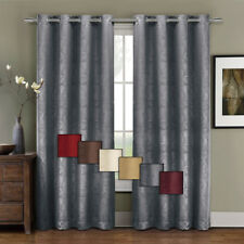 Contemporary Prairie Blackout Curtain Panel with Leafy Design (Single)