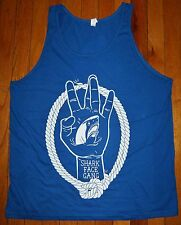 NEW Men's Shark Face Gang MACKLEMORE & RYAN LEWIS Tank Top Shirt Sz L Blue