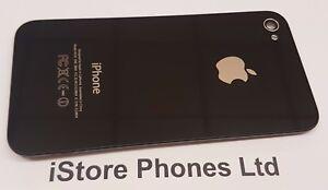 iPhone 4 A1332 GLASS BACK REAR BATTERY HOUSING COVER - GENUINE ORIGINAL - BLACK