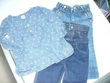 Toddler Girls Lot of 4 Pieces Size 18 Months 3 bottoms 1 longsleeve shirt