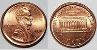 1999 - RED GEM - OFF CENTER BROADSTRUCK - LINCOLN CENT MAJOR MINT ERROR  #9710