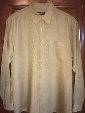 Bugatchi Men's L Shirt Beige W/browns  Excellent Better Than Pics! C All Pics $8