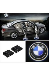 2x Wireless Led Courtesy Car Logo Door Ghost Shadow Projector Light For Bmw