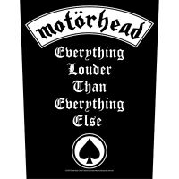Motorhead Everything Louder Back Patch Official Metal Rock Band Merch