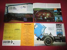 N°4624   /  dépliant SAVIEM  SM 12  à moteur MAN