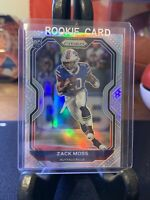 Panini Prizm Football Zack Moss Silver Prizm Rookie Card RC #311 BILLS ❄️