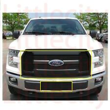 FOR 2015 16 2017  Ford F150 F-150 XL ONLY Black Billet Grille Grill Combo Insert